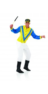 Men's Jockey Fancy Dress Costume
