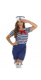 Ladies Sassy Sailor Fancy Dress Costume