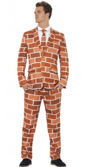 Mens Off The Wall Fancy Dress Stand Out Suit