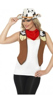 Ladies Cowgirl Fancy Dress Instant Kit