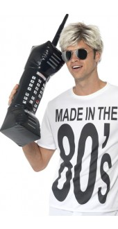 80s Inflatable Retro Fancy Dress Mobile Phone